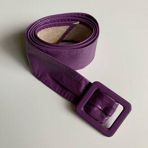 80's Thin Leather Belt